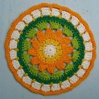 Crochet Mandala Wheel made by Maria Christina, Brasil, for yarndale.co.uk