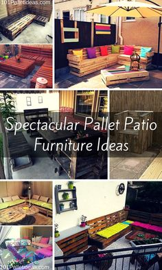 Spectacular Pallet Patio Furniture Ideas | 101 Pallet Ideas