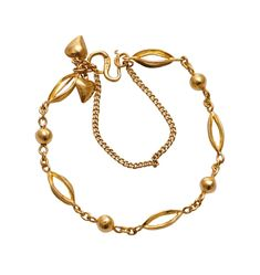 (18JD) 24ct Ball and Link Bracelet n\A ball and link bracelet. 24ct gold. Weight 11.20 grams. Length 16cm. Fine Jewels… / MAD on Collections - Browse and find over 10,000 categories of collectables from around the world - antiques, stamps, coins, memorabilia, art, bottles, jewellery, furniture, medals, toys and more at madoncollections.com. Free to view - Free to Register - Visit today. #Jewelry #Bangles/Bracelets #MADonCollections #MADonC Link Bracelets, Bangle Bracelets, Beaded Necklace, Gold Necklace, Bottles, Mad, Stamps, Coins, Auction