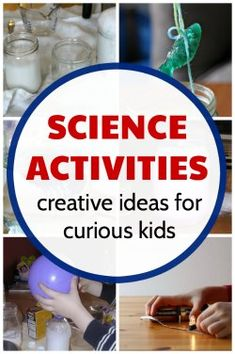 Science activities for kids that are easy to do at home.