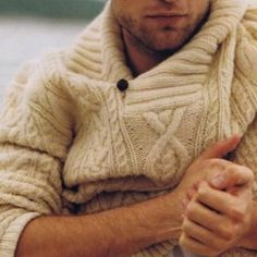 Love the look of chunky sweaters in men