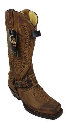 Rancho 9064 marrón botas de vaquero vaquero Boots Biker BOTAS MOTOCICLETA  BOTAS  966e3a98655