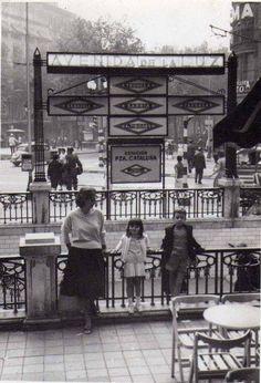 Avenida de la luz - Barcelona, plaça Catalunya amb Pelai 1960