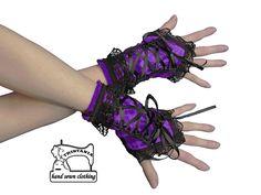 Bezprsté rukavice s korzetovým šněrováním 1330   Zboží prodejce Gothic  Burlesque shop 22dd8d2ae8