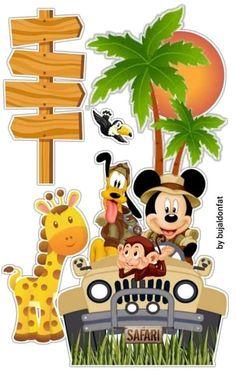 Mickey Mouse Parties, Mickey Mouse Birthday, Baby Birthday, Birthday Bash, Mickey E Minie, Baby Mickey, Disney Mickey, Winter Wonderland Cake, Safari Cakes