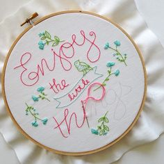 Enjoy the little things #embroidery #kit is now available on my etsy shop