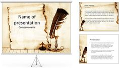 Ancient Scroll With Ink Powerpoint Template Is One Of The Best - Best of ancient scroll template ideas