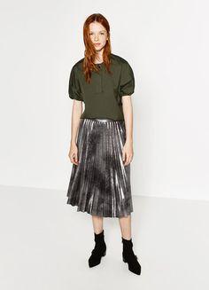 5606db615 Must-have für den Herbst  Plissee-Röcke in Glitzer und Metallic!