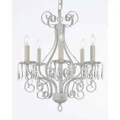 EverythingHome 5 Light Candle-Style Chandelier Finish: White