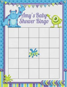 A-Manda Creation: Monsters Inc Baby Shower Day 4