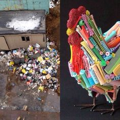 Moscow garbage + contemporary art. #lookslike #collage #moscow #garbage #contemporaryart #trendsquire.russia