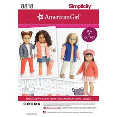 Amazing Photo of American Girl Doll Sewing Patterns American Girl Doll Sewing Patterns American Girl 18 Inch Doll Clothes Simplicity Sewing Pattern 8818 Ag Doll Clothes, Doll Clothes Patterns, Doll Patterns, Clothing Patterns, Skirt Patterns Sewing, Simplicity Sewing Patterns, Girl Dolls, Ag Dolls, Outfits