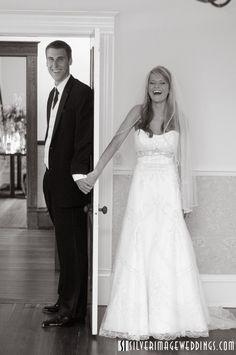 Wedding picture idea! I like this idea as we dont want to see each other befor the Church :)