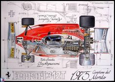 Ferrari 312T - Superb Cutaway Art work