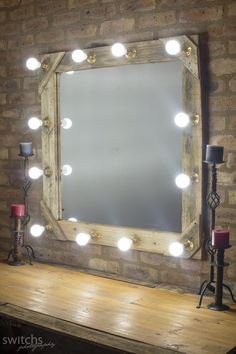 12 bulb make-up mirror custom made for make-up and to use as light for photographic purposes
