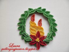christmas quilling   quilled christmas ornaments