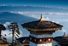 Himalayan Mountain Chorten, Bhutan  Photo by Kim Walker