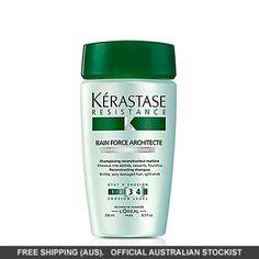 56919 Kérastase Resistance Bain Force Architecte champú 250 ml Cuidado del cabello Hair Gain, Perfume, Fibre, Keratin, Healthy Skin, Your Hair, Short Hair Styles, Shampoo, Personal Care