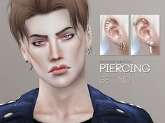 Piercings for your sims, they come in 10 colors and work for all genders. The shape of the ears may need to be adjusted to fit the piercings, but it should be no problem as they look good with many earshapes. Found in TSR Category 'Sims 4 Female Earrings' Sims 4 Cc Skin, Sims Cc, Ear Cuff Piercing, Sims 4 Piercings, Sims 4 Cc Shoes, Sims 4 Cc Makeup, Sims 4 Characters, Silver Ear Cuff, Sims Community