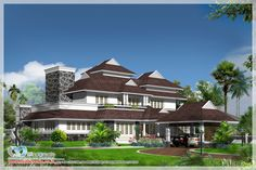Showcasing a very beautiful #ColonialModelHomes In Kerala at an area of 1300sq.ft. This is a luxurious house design which comprises of 5 bedrooms with attached bathrooms. #RealEstatepropertiesinKerala #Topdealersincochin http://www.kmhp.in/design/colonial-model-homes/