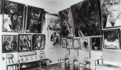 Sergei Shchukin's study in Moscow, 1913