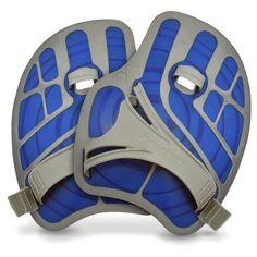 Get Aqua Sphere ErgoFlex Swim & Fitness Paddles - Blue/Grey - Swimming Styles For Newbes