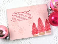 Merry Christmas Card by Dawn McVey for Papertrey Ink (October 2015)