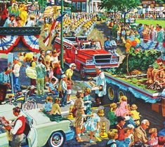 Vintage Ad Goodyear Tires 1960 Illustrator Ted Giavis--Summer Parades