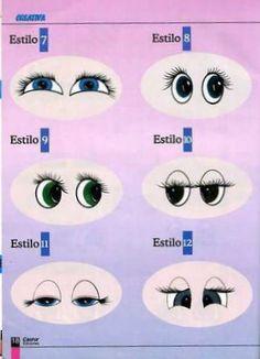 como pintar desenhar olhos boca boneca
