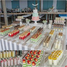 Party table buffet dessert bars New Ideas Dessert Party, Buffet Dessert, Dessert Bar Wedding, Wedding Desserts, Dessert Tables, Wedding Desert Bar, Cake Wedding, Wedding Blog, Mini Desserts