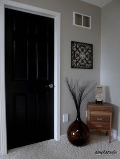 Black Interior Paint black interior doors before and after | door- before and after