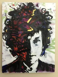 Bob Dylan Art by artist Matt Pecson Spray Paint Art Pop Art Painting Canvas Wall Art Hippie Decor Bo Bob Dylan Art, Oil On Canvas, Painting Canvas, Acrylic Paintings, Watercolor Painting, Canvas Art, Spray Paint Art, Beginner Painting, Urban Art