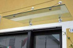 Pensilina in vetro e acciao modello CLASSIC
