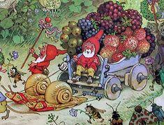S for Snail: Fritz Baumgarten Illustration Inspiration, Children's Book Illustration, Woodland Creatures, Magical Creatures, Alphonse Mucha, Fairy Land, Fairy Tales, Baumgarten, Fairytale Art