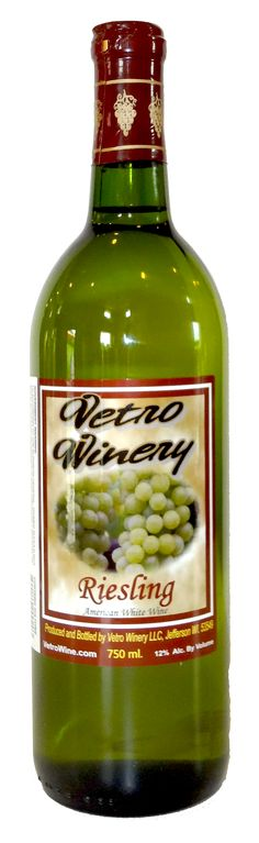 White Wines « Vetro Wine-- Riesling (Semi-Sweet) Easy to pair with a variety of chicken, seafood, turkey, cheese, or just as an elegant dessert wine.