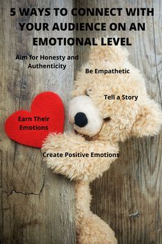 Here's how to harness your audience's emotions, and use empathy and storytelling to create positive, profitable brand-customer connections. Emotional Connection, Feelings And Emotions, Target Audience, Marketing Strategies, Lead Generation, Understanding Yourself, 5 Ways, Content Marketing, Helping People