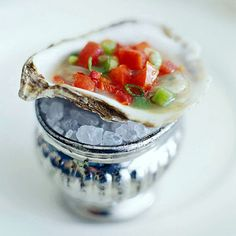 Roasted Oysters ~~ Celebrate Valentine's Day with a natural aphrodisiac -- oysters -- paired with a simple mixed-green salad or shrimp cocktail.