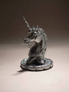 Silver Heraldic Unicorn Louis Lejeune Ltd. Recent and archive photos of standard and bespoke car mascot/ hood ornament commissions.