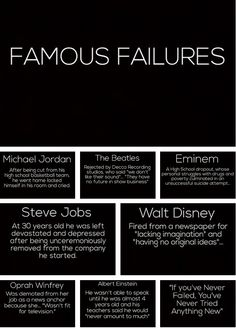 Sometimes failing is only the beginning...