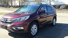 Just in: 2015 Honda CR-V EX FWD, 10,000 miles, Basque Red on Ah Gray seating, Heated front seats. Sunroof, Backup camera and side view camera, Alloy wheels. Books and two keys. Striking color combination. $24,795