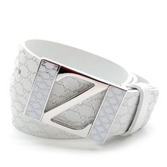 (JPB019-WHITE) Casual Leather Belt from W28 to W40