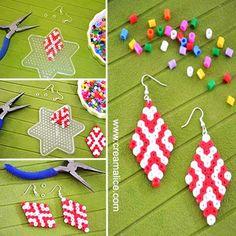 {DIY} Boucles d'oreilles graphiques en perles Hama