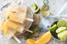 For effortless outdoor entertaining serve up these gorgeous mango and chamomile iced-tea popsicles. Iced Tea Recipes, Top Recipes, Summer Recipes, Sweet Recipes, Frozen Desserts, Frozen Treats, Chamomile Recipes, Healthy Pastas, Food Categories