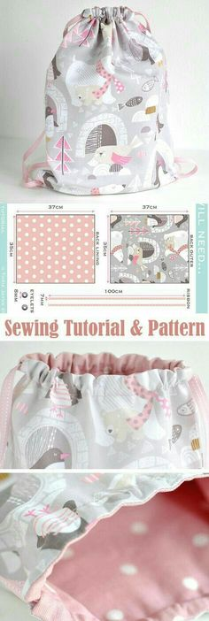 53 New Ideas Sewing Backpack Pattern Diy