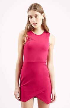 Topshop Asymmetrical Body-Con Dress (Petite) available at #Nordstrom