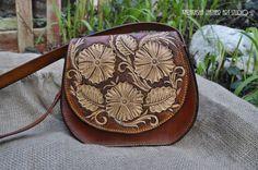Saddle hand bag made from real genuine leather bag/saddle bag/shoulder bag handmade carved by KazakhshaStyle on Etsy