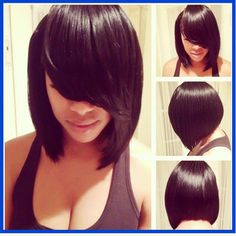 Natural Part Indian Virgin Bob Lace Indian Remy Hair Bob Silky Straight Lace Front Wig With Side Bangs And Baby Hair