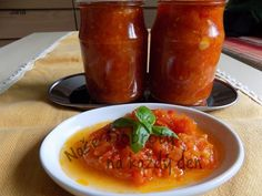 Recept Pikantní směs na špagety. Autor: Jana. Home Canning, Preserves, Food And Drink, Pesto, Vegetables, Drinks, Syrup, Canning, Preserving Food