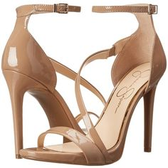 Jessica Simpson Rayli High Heels ($89) ❤ liked on Polyvore featuring shoes, sandals, heels, high heel sandals, jessica simpson sandals, women shoes, ankle wrap sandals e heeled sandals