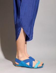 Jeffrey Campbell, 3 tone blue flattie...